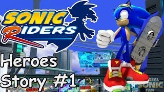 getlinkyoutube.com-Sonic Riders (PC) - Heroes Story - #1
