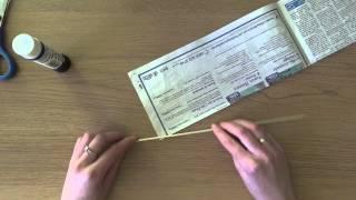 Wiklina papierowa - jak skręcać rurki