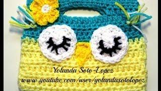 getlinkyoutube.com-Como tejer una Bolsita de Buho en Crochet (Video 1 )