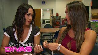 getlinkyoutube.com-The Bella Twins argue at the merchandise table: Total Divas, January 11, 2015