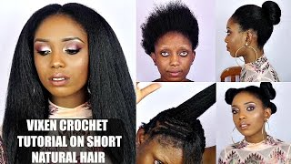getlinkyoutube.com-Vixen Crochet Braids Tutorial On Short Natural Hair