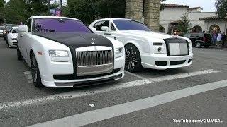 getlinkyoutube.com-1200HP Bugatti Veyron Super Sport 'Pur Blanc' + Mansory Rolls Royce Drophead!