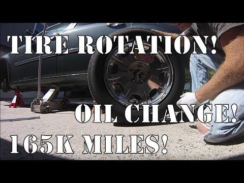 '05 Chrysler 300: 165k Mile Oil Change, Tire Rotation, And Wheel Alignment