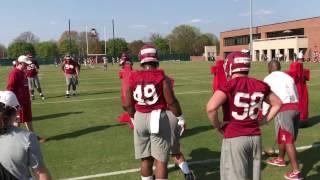 Isaiah Buggs at 2017 Alabama spring football practice