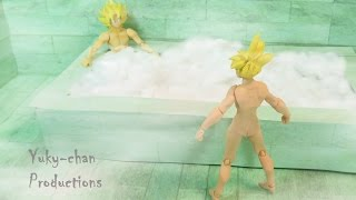 getlinkyoutube.com-BARDOCK 21 ★★TRUNKS VS CELL★★ - Dragon ball crazy - Foto comic - Stopmotion Figuarts
