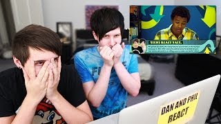 getlinkyoutube.com-Dan and Phil react to Teens React to Dan and Phil