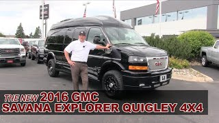 getlinkyoutube.com-New 2016 GMC Savana Explorer Quigley 4X4 Lifted Conversion Van - White Bear Lake, St Paul, Mpls, MN