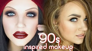 getlinkyoutube.com-90s Grunge & Supermodel Glam Makeup Tutorial