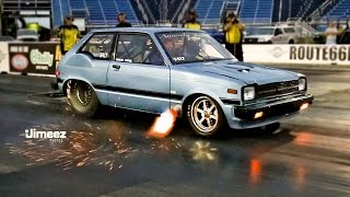 "getlinkyoutube.com-""SCORCHIN"" 7SEC STARLET! '82 TOYOTA STARLET/MAZDA 13B AT RT66"