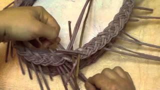 getlinkyoutube.com-Basketry. Braid-type of edging.  Part 10.