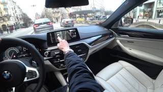 [4k] POV DAYLIGHT G30 BMW 540i xDrive short drive starting point Zlatan's house in Stockholm, Sweden