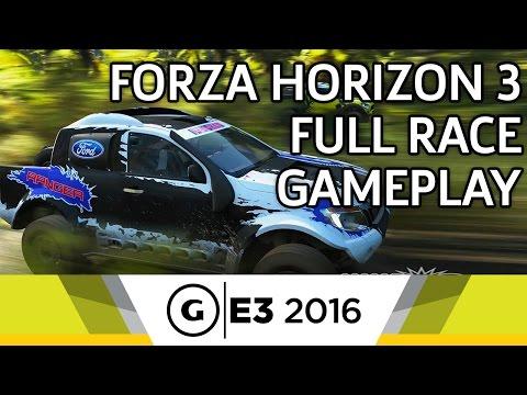 Forza Horizon 3 Full Race Gameplay - E3 2016