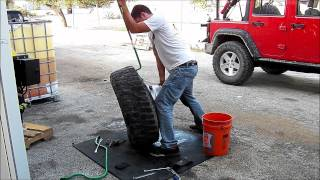 getlinkyoutube.com-Mounting a Truck Tire in your Driveway