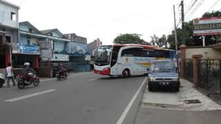 getlinkyoutube.com-Klakson Telolet (NL-448) + Sirine Polisi Bus Rosalia Indah NL447 ex. LASCO