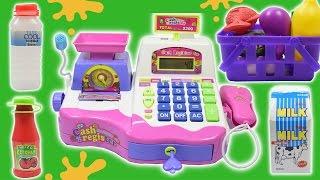 getlinkyoutube.com-Cash Register Toy - Supermarket Cash Register Toy For Girls Playset By Haus Toys
