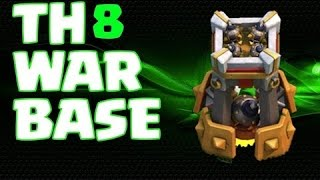 getlinkyoutube.com-اقوى تصميم تاون هول لفل 8 للحرب مع برج القنابل الجديد || Clash of Clans - Town hall 8 (Th8) War Base