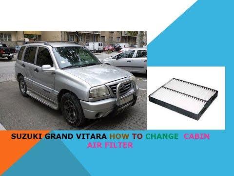 Suzuki Grand Vitara how to change cabin air filter