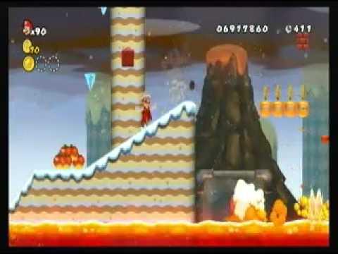 New Super Mario Bros Wii Custom Level - Freeze flame level