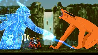 Madara VS Naruto and Kurama in M U G E N