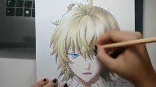 getlinkyoutube.com-Speed Drawing - Hyakuya Mikaela (Owari no Seraph)