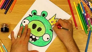 getlinkyoutube.com-Angry Birds Coloring Pages King Pig