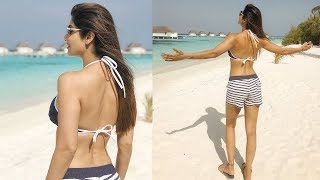 Shilpa Shetty in a HOT BIKINI at Maldives Beach | Shilpa Shetty Maldives Vacation With Family width=
