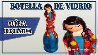 getlinkyoutube.com-BOTELLA DE VIDRIO MUÑECA DECORATIVA