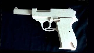 getlinkyoutube.com-Blowback rubber band gun :Two types of mechanisms.