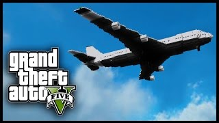 getlinkyoutube.com-Minecraft - GTA V Mod - Grand Theft Auto 5 - AIRPLANE HIJACK!