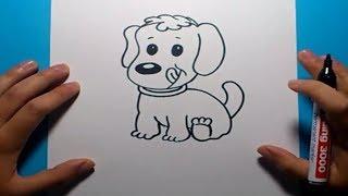 getlinkyoutube.com-Como dibujar un perro paso a paso 13   How to draw a dog 13