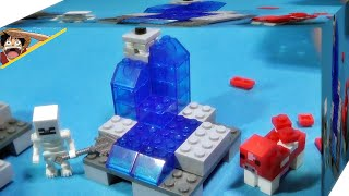 getlinkyoutube.com-lele 마인크래프트 폭포 물과 스켈레톤 세트 박스 레고 짝퉁 Lego knockoff minecraft waterfall set