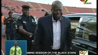 getlinkyoutube.com-Asantehene, Otumfuo Osei Tutu II, visits Black Stars