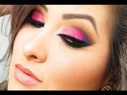 Maquiagem Rosa e Roxa ჱܓ ~ Extravaganza por Van Almeida