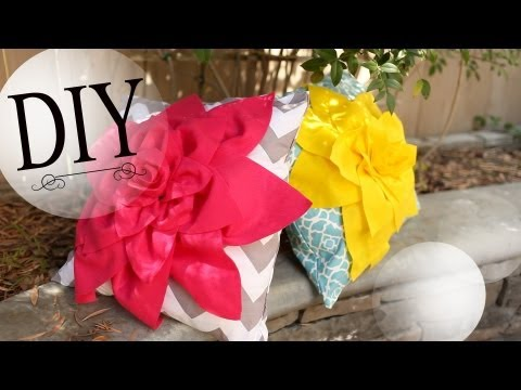 DIY Cute Flower Pillow - Summer Room Decoration