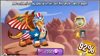 getlinkyoutube.com-Dragon City - Uncle Sam Dragon | Heroic Races [Only 45 Gems]