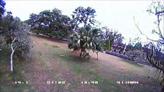 TrueX 130mm Frame Emax 1306 4000kv Kiss 18a Tattu 4s 850mah 75c Sunday Noon Practice Quad Race