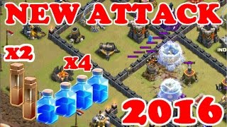 getlinkyoutube.com-NEW Th9 Strategy December 2015 - 4 Lightning + 2 Earthquake Spells - Zap Quake - Clash Of Clans