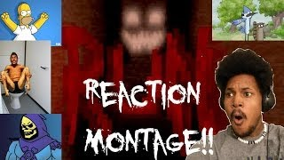 getlinkyoutube.com-HORROR REACTION COMPILATION MONTAGE!!!