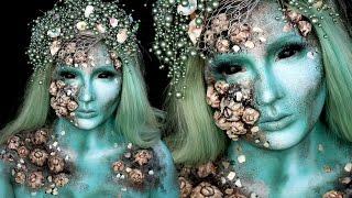 getlinkyoutube.com-Love Sick Evil Mermaid Makeup Special FX Tutorial