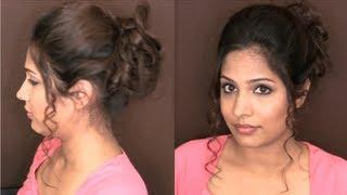 Easy Messy Curly Updo Hairstyles for Medium Long Hair - Wedding/Prom | HAIR TUTORIAL