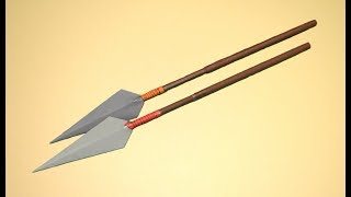 getlinkyoutube.com-Como hacer una lanza de papel. Paper Spear