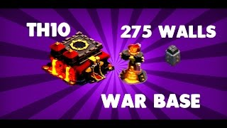 getlinkyoutube.com-clash of clans-NEW EPIC TH10 WAR BASE 275 WALLS SPEED