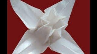 getlinkyoutube.com-Origami flower by František Grebeníček