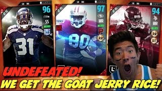 getlinkyoutube.com-WE GET THE GOAT JERRY RICE! UNDEFEATED! MADDEN 17 ULTIMATE TEAM