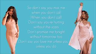 Fifth Harmony -  Don't Say You Love Me (Lyrics) width=
