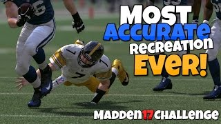 getlinkyoutube.com-CAN I RECREATE THE BIG BEN'S MIRACLE SHOESTRING TACKLE?? Madden 17 Challenge