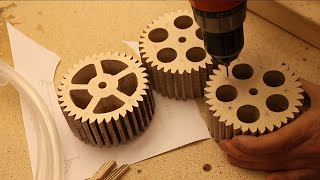 getlinkyoutube.com-Making Gears for the Lifting Mechanism Prologue#6 Musical Marble Machine