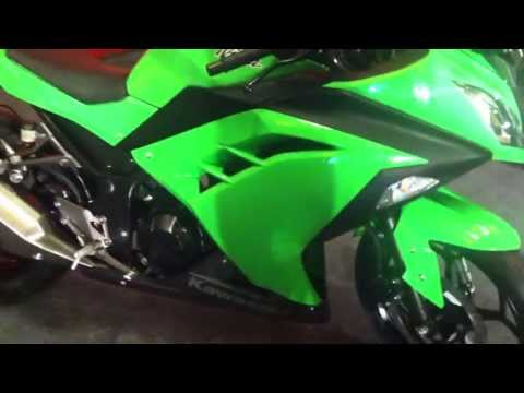 2013 Kawasaki Ninja 300 in India walkaround