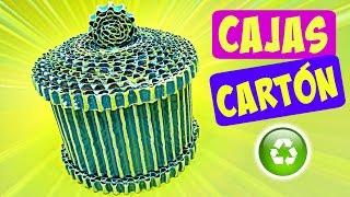 getlinkyoutube.com-DIY Amazing cardboard boxes. Cajas de cartón.