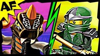 getlinkyoutube.com-GREEN NINJA vs BYTAR 9556 9574 Lego Ninjago Spinjitzu Battle & Stop Motion Review